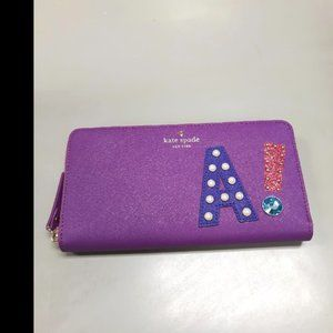 """NWT Kate Spade """"A!"""" Lacey Wallet"""